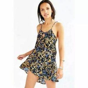 For Love & Lemons Watercolor Floral Tank Dress